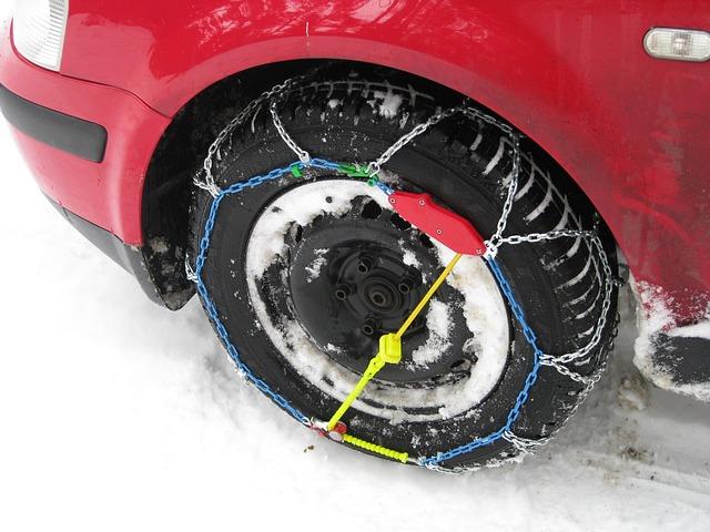 Verige za sneg na kolesa in varno na pot